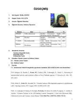 Yard. Doç. Dr. Melike ERSÖZ - İstanbul Bilim Üniversitesi