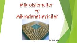 Mikroişlemciler ve Mikrodenetleyiciler
