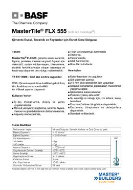 MasterTile® FLX 555 (Eski Adı Fleksfuga®) Çimento