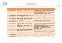 ek-3 2014 yılı kobi mali destek programı elenen proje teklifleri listesi