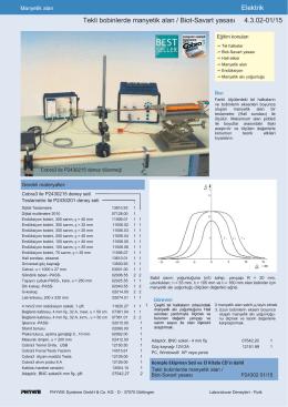 Elektrik Tekli bobinlerde manyetik alan / Biot