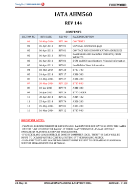 IATA AHM560 REV 144 - THY AHM560