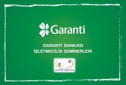 garanti brosur - Marmara Üniversitesi