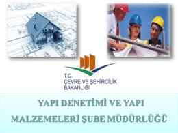 Slayt 1 - Çevre ve Şehircilik Bakanlığı