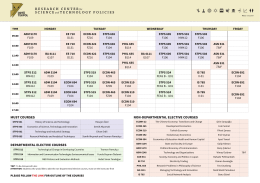 musT Courses DeparTmenTal eleCTive Courses non