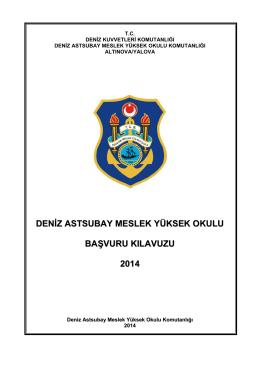 Başvuru Klavuzu - Deniz Astsubay Meslek Yüksek Okulu