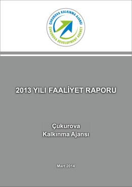 2013 yılı faaliyet raporu - Çukurova Kalkınma Ajansı