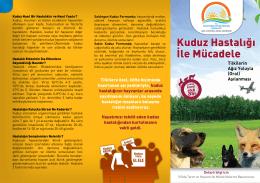Kuduz Hastalığı İle Mücadele - TC Gıda Tarım ve Hayvancılık