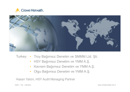 Troy Bağımsız Denetim - Crowe Horwath International
