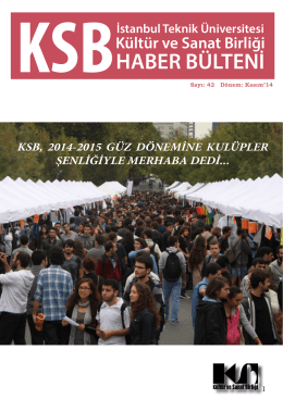 buradan - KSB - İstanbul Teknik Üniversitesi