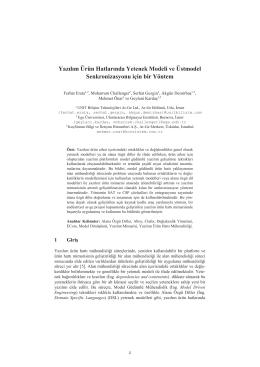 Yazılım Ürün Hatlarında Yetenek Modeli ve - CEUR
