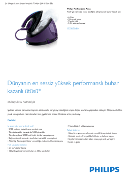 Product Leaflet: 6,2 bar Basınçlı buhar kazanlı ütü Akıllı Çip Teknolojisi