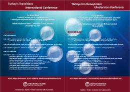 Konferans Programi (pdf)