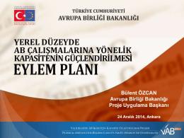 Eylem Planı - Avrupa Birliği Bakanlığı