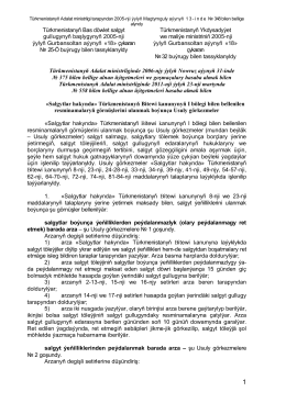 Türkmenistanyň Bas döwlet salgyt gullugynyň başlygynyň 2005
