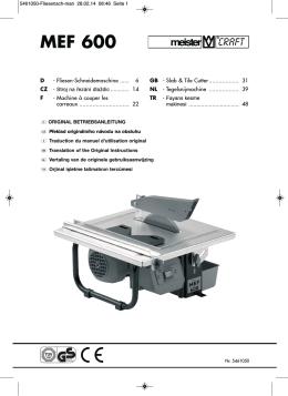 MEF 600 - Meister Werkzeuge