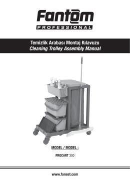 Temizlik Arabası Montaj Kılavuzu Cleaning Trolley