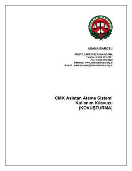 CMK Asistan Atama Sistemi Kullanım Kılavuzu (KOVUŞTURMA)