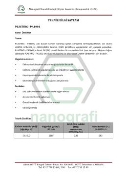 Nanografi Nanoteknoloji Bilişim İmalat ve Danışmanlık Ltd. Şti.