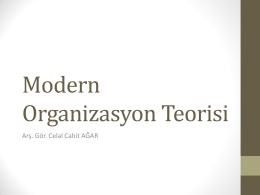 Modern Organizasyon Teorisi