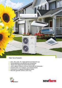 Paket Tip Isı Pompaları - Verimli Enerji Sistemleri