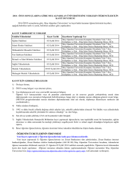 SAYI : B - Muş Alparslan Üniversitesi