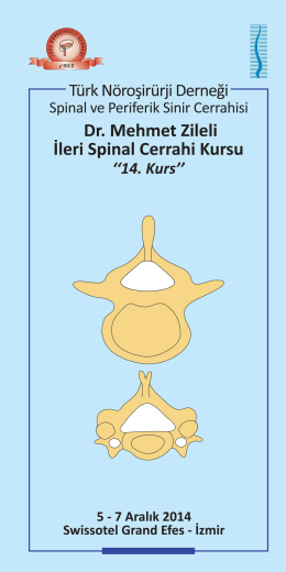 Dr.Mehmet Zileli İleri Spinal Cerrahi Kursu