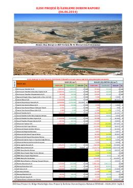 ılısu projesi iş ilerleme raporu haziran-2014