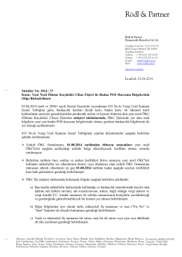 Sirküler No: 2014 / 37
