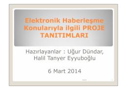Elektronik Haberleşme Konularıyla ilgili PROJE