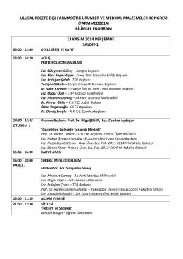 Kıbrısta düzenlenecek olan Kongrenin programı görmek için tıklayınız.
