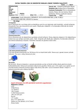 01A_Ayarlı direnç çeşitleri - Elektrik elektronik temrinleri