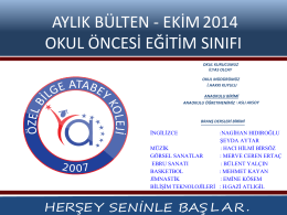 ANASINIFI EKM 2014 AYLIK BLTEN