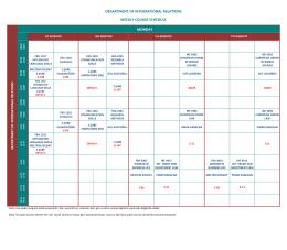 Uluslararası İlişkiler Bölümü Haftalık Ders Programı