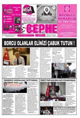 06.01.2015 Tarihli Cephe Gazetesi