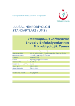 Haemophilus influenzae invaziv enfeksiyonları