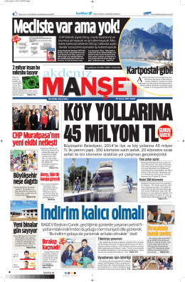 Kartpostal gibi! - Akdeniz Manşet