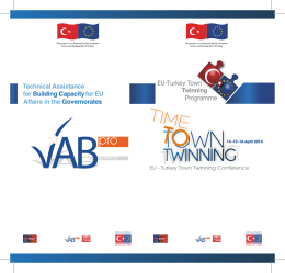 EU - Turkey Town Twinning Conference