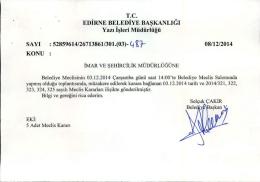 aralık - Edirne Belediyesi