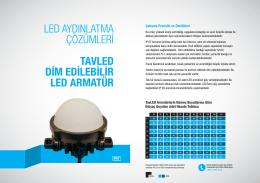 TavLED Dim Edilebilir LED Armatür