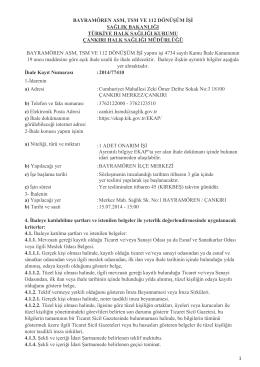 bayramören asm, tsm ve 112 dönüşüm işi sağlık bakanlığı türkiye
