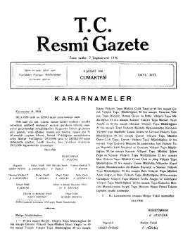 T . C . esmî Gazete