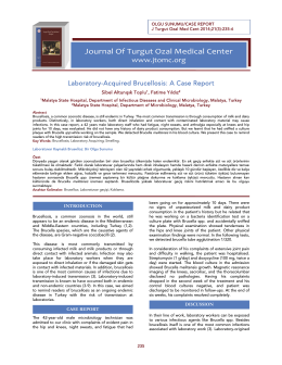 Journal Of Turgut Ozal Medical Center