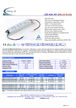 LED ACİL KİT (EMLUS-XLED)
