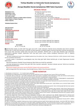Müsabaka Reglamanı - Türkiye Karate Federasyonu