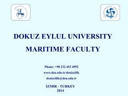 deu maritime faculty catalog