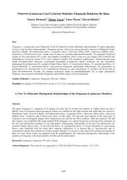 Origanum Tuncay Dirmenci1, 1, Taner Özcan1