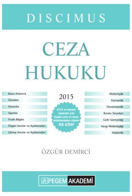 CEZA HUKUKU - Pegem.net