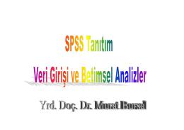 SPSS Tanıtım ve Betimsel Analizler