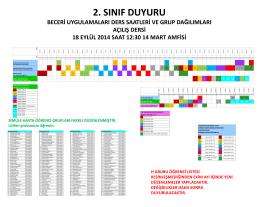 2 sınıf beceri uygulamaları duyuru 2014-15